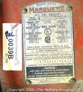 Marquette AC ARC Welder; 230V Model EW-94; working