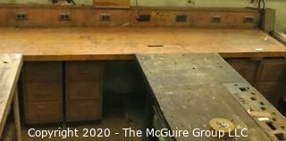 "27 x 146 x 34""t Wooden Workbench (without outlet rail)"