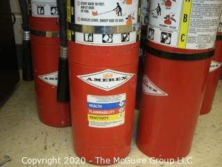 (6) AMEREX fire extinguishers and hangers
