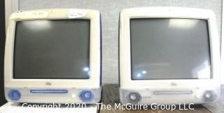 Two (2) Classic Vintage Apple IMAC Computer Monitors CPUs.  Made in 2000