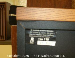 Pair of Vintage Acoustic Research TSW-110 small bookshelf speakers