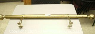 Brass rail and mounting arms ~4 feet long