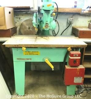"Rockwell 10"" Radial Arm Saw On Heavy Cast Iron Stand"