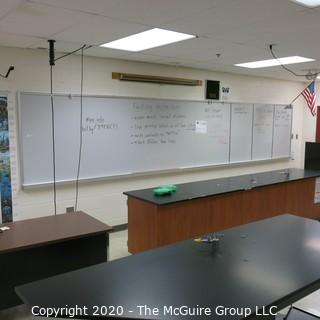White Board In Metal Frame (You Must Remove From Wall) 4' X 16'