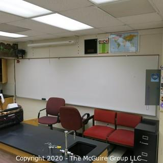 4' X 16' WHITE BOARD IN METAL FRAME (YOU MUST REMOVE FROM WALL)