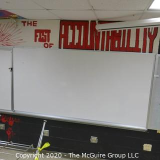 4' X 8' WHITE BOARD IN METAL FRAME (YOU MUST REMOVE)