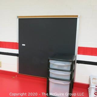 4' X 4' BLACK BOARD (BUYER TO REMOVE FROM WALL)