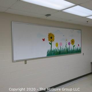 4' X 8' WHITE BOARD IN METAL FRAME (BUYER TO REMOVE FROM WALL)