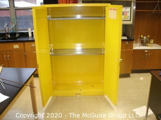 """43w x 18d x 66""""t FLAMMABLE LIQUID STORAGE CABINET (LIKE NEW CONDITION)"""