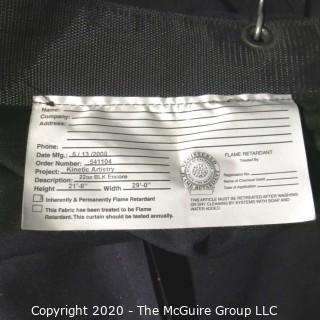 Pair of 8' X 22'; 22 OZ. Flame Retardant Black Stage Curtains (Manufactured 2008)
