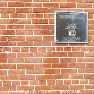 """(1) Red Clay Brick from the Exterior Wall Near """"The Pathway"""".  Own Your Own Piece of George Mason High School."""