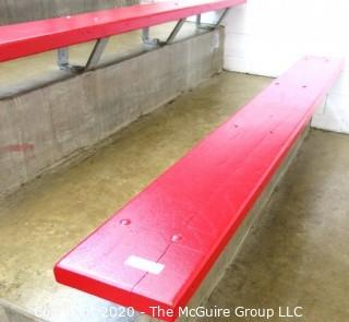"""9"""" x 7' Original Wood Bleacher Seat from the Pit."""