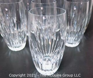 "Set of (8) Baccarat Cut Crystal Highball Glasses with Deep Bevel Cuts in Sought After Massena Pattern.  They measure approximately 6"" tall {Note: Description adjusted 2/1/21 @3:18pm ET}"