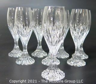 "Set of (8) Baccarat Cut Crystal Cordials with Deep Bevel Cuts in Sought After Massena Pattern.   They measure approximately 5 1/2"" tall. {Note: Description Altered 2/1/21 at 3:32pm ET}"