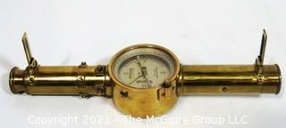 Antique Brass Keuffel & Esser Co. New York, Surveyor's Transit Level.