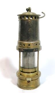 Brass Miners Alcohol Safety Lamp
