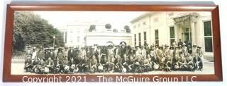 "1923 Framed Under Glass Gettysburg High School Senior Class Trip to The White House, Black & White Photograph by Schutz Group Photographers (Washington, D.C.)  Measures approximately 30"" x 11"". {Note: Description altered 2/3/21 @ 11:41am ET}"