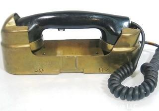 Art Deco Wall Mount Ship Phone Intercom System with Brass Jacket.