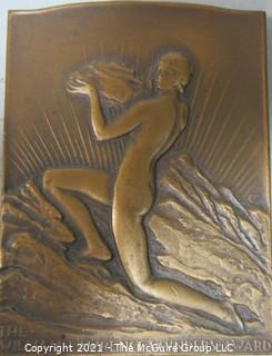 Bronze Medal: The William Lawrence Sanders Award Given to David William Brunton, 1927, by the American Institute of Mining and Metallurgical Engineers for Achievement in Mining