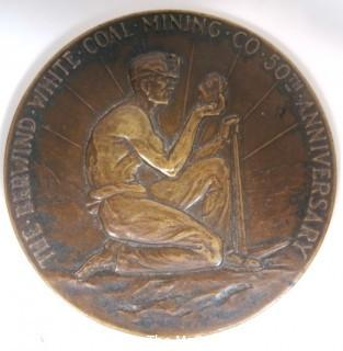 Tiffany and Co. Bronze Medal Titled: The Berwin White Coal Mining Company, 50th Anniversary 1886-1936