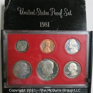 1981 United States Proof Coin Set with Original Packaging