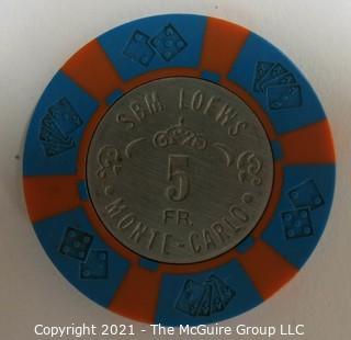 SBM-Loews; Monte-Carlo 5 Franc Casino Chip