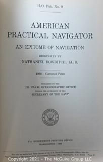 "Book: ""American Practical Navigator - An Epitome of Navigation"", published 1966 by the U.S. Naval Oceanographic Office"