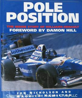 "Book: ""Pole Position""; Formula 1 Racing, inscribed; by Jon Nicholson and Maurice Hamilton; 1995, Macmillan"