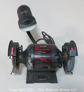 "Craftsman 6"" Bench Grinder with Light Tool"