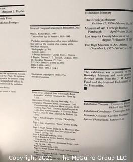 "Book: ""The Machine Age in America"", 1918-1941 Wilson, Richard Guy; Tashjian, Dickran; Pilgrim, Dianne H."