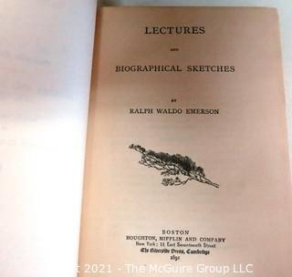 Set of Ten Books by Ralph Waldo Emerson Published in 1891.