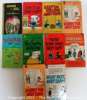 Collection of Vintage Adams & Evil, Belvedere & Andy Capp Cartoon Comic Books.
