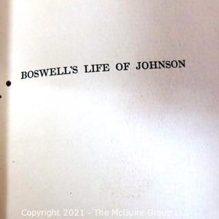 Six Volume Set of Life of Johnson by James Boswell,  Edited by Augustine Birrell  1903