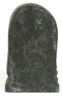 "Art Deco Black Ceramic Statue of Woman in Profile.  Measures approximately 10"" tall."