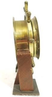 Vintage Salem Brass Ships Bell 8 Day Nautical Wind Up Clock