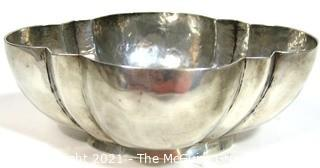 Vintage William Spratling Taxco Hammered Sterling Silver Lobed Bowl c. 1940,  Measures approximately Width 6.5 Depth 5 Height 2.25 in. (251g)