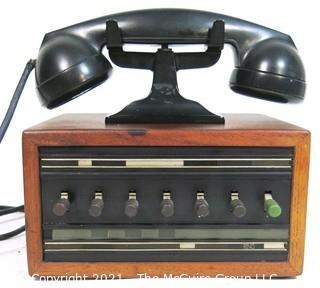 Early Dictograph Telephone / Intercom with handset