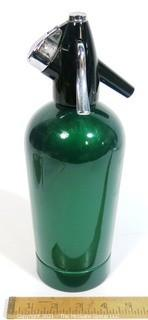 Vintage Green Enamel Painted Soda Siphon.