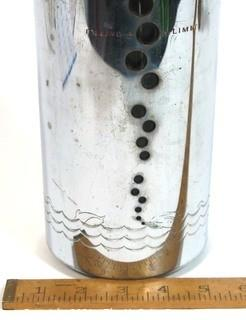 Mid Century Modern (MDM) Soda King Seltzer Siphon with Fish and Bubbles Design on Sleeve.
