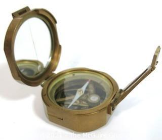 Brass 'Brinton' Compass, copy of the Brunton Compass.