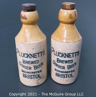 Plucknetts Ginger Beer stoneware bottles