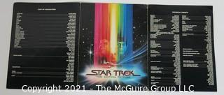 "Vintage Tri Fold Movie Program From Theatrical Premier of ""STAR TREK the Motion Picture"" 1979 Staring William Shatner and Leonard Nimoy that Took Place at the Air & Space Museum in Washington DC."
