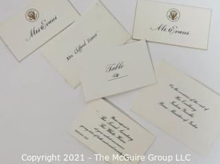 A Collection of U.S. Presidential Ephemera From Various Events Attended by Clifford Evans (1915-1983), Award Winning Print and Broadcast Journalist and former President of the White House Correspondents Association.