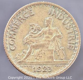 1925 1 French Franc Coin