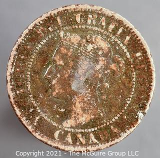 1899 Canadian 1 cent coin