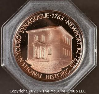 "Commemorative Cased Coin ""Touro Synagogue, Newport, Rhode Island"""