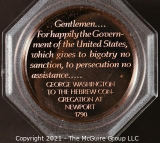 "Commemorative Cased Coin ""Touro Synagogue, Newport, Rhode Island"""