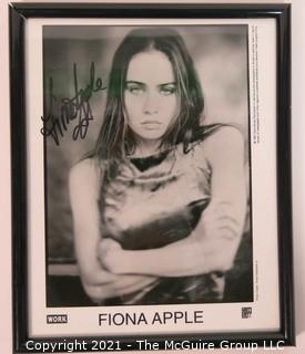 Framed and Signed Publicity Photograph of Musician Fiona Apple.