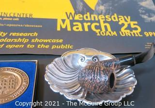 Collection of George Washington University Themed Items Including Gorham Sterling Ash Tray (82g)
