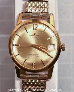 "Swiss Made ""Printania"" 21 Jewel Incabloc Automatic Men's Wristwatch (untested)"